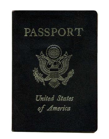 A United States Passport on white background  Stock Photo