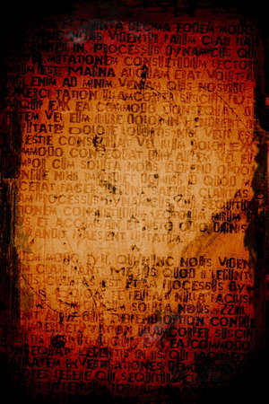 Abstract crazy writing on a grunge textured background  Фото со стока