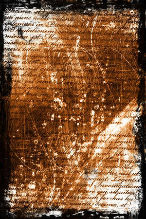 Old hand writing on a grunge type background. Stock Photo - 548963