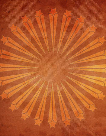 Abstract Grunge textured background with starburst on a orange background Stock Photo - 8116477