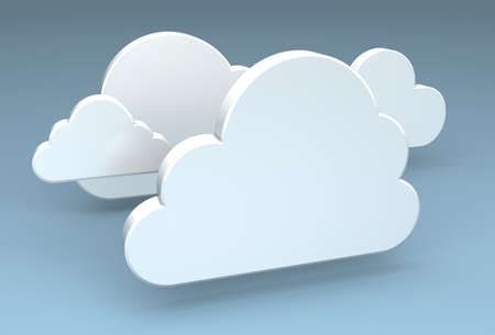 3 d illustrations: A 3D rendering of a cloud computing icon Stock Photo