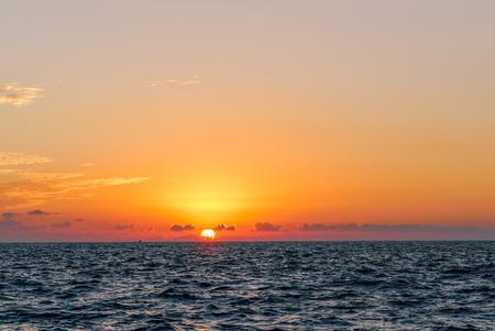 Acapulco Bay sea at sunset
