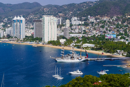 Acapulco Bay port and hotels