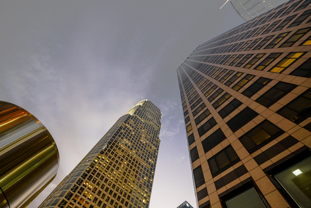 Los Angeles Downtown buildings from bellow 에디토리얼
