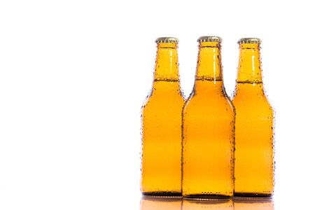 Three isolated fresh beers Stock Photo - 3937038