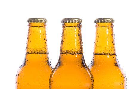 Three isolated fresh beers Stock Photo - 3937041