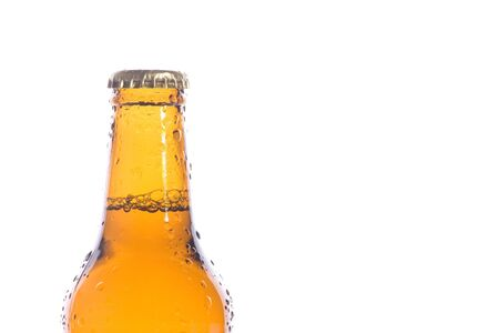 Macro of a isolated fresh beer photo