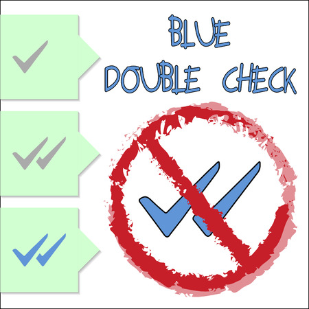 a check: Blue Double Check