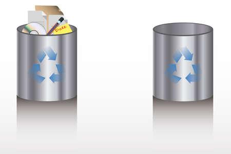 refuse: Recycle Bins Illustration