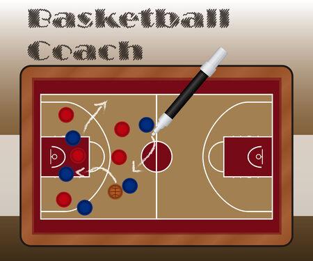 slate: Slate Basketball Coach Illustration