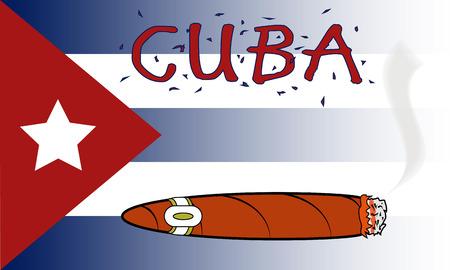 cubana: Cuba Cigar  Vectores