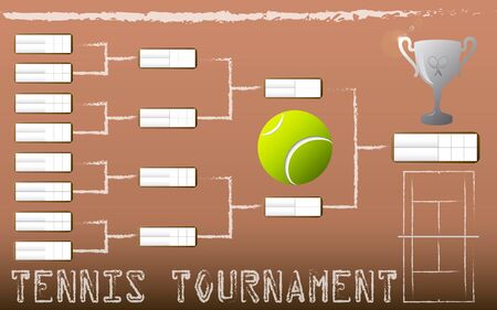 tournament bracket: Tennis Tournament Bracket