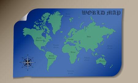 oceans: Mapamundi