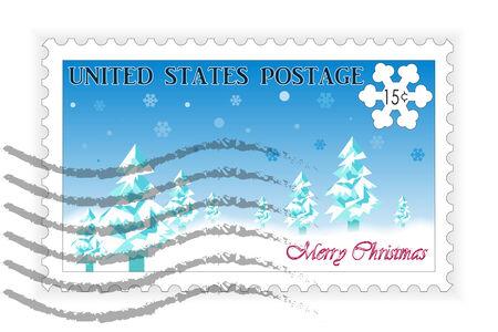 postage: American Postage Stamp Christmas