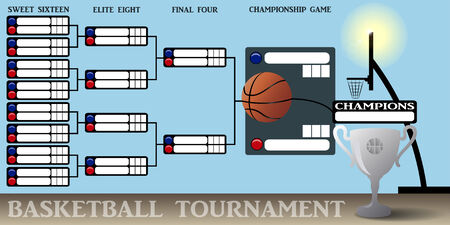 tournament bracket: Basketball Tournament Bracket Illustration