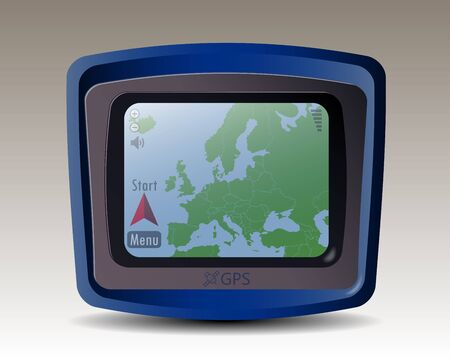 gps device: GPS with the Map of Europe