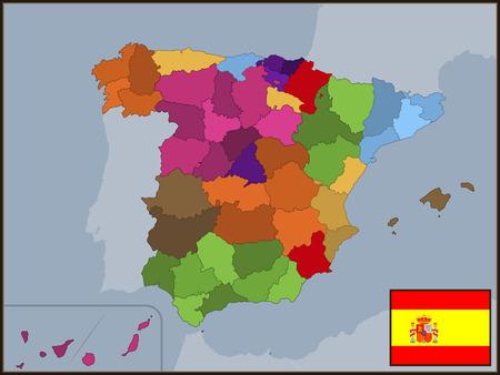 autonomous: Autonomous Communities of Spain with Flag and Badge