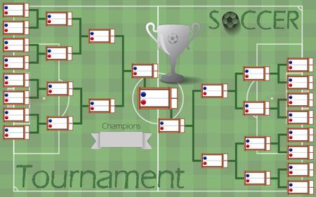 축구 토너먼트 브래킷