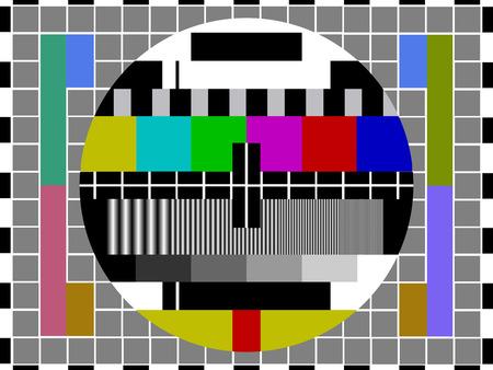 Tarjeta de prueba de la televisión Foto de archivo - 37760477