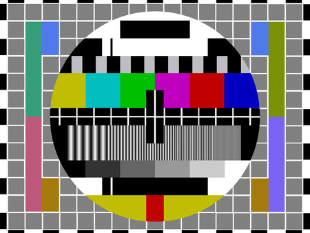 screen tv: Television Test Card Illustration