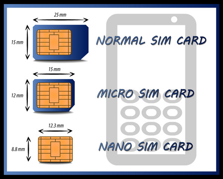 Graph of the Different Types of SIM Cards
