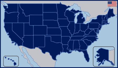 États-Unis d'Amérique Carte vierge Vecteurs