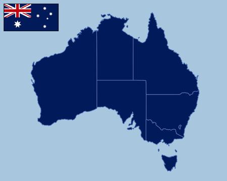 melbourne australia: Blank Map of Australia