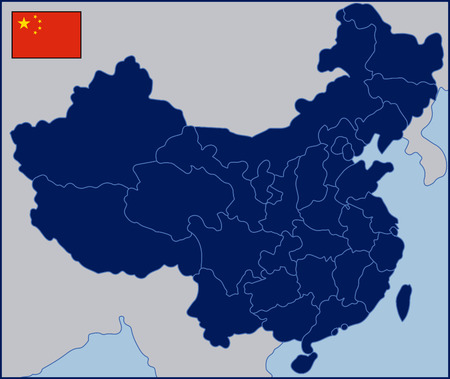 Blank Map of China