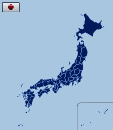 prefecture: Blank Map of Japan