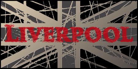 liverpool: Liverpool Vintage Worn UK Flag 3D