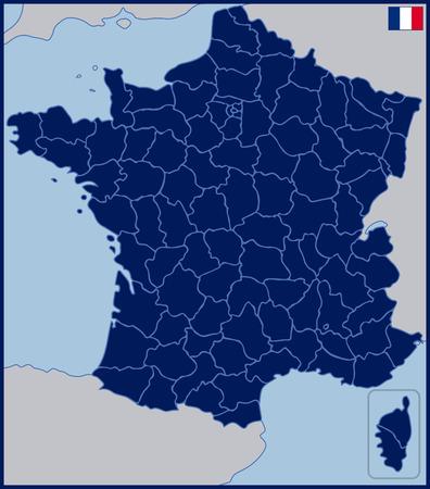 Blanco Kaart van Frankrijk