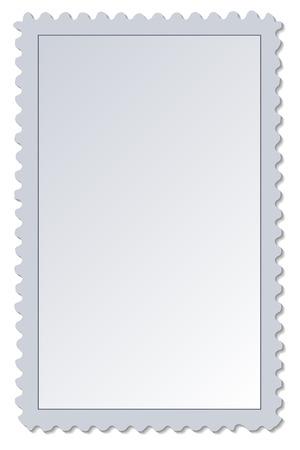 Blank Postage Stamp 일러스트