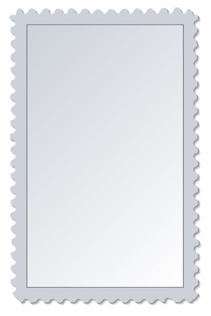 Blank Postage Stamp Ilustrace