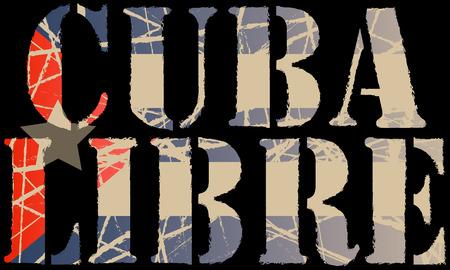 Free Cuba Ilustrace