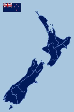 zealand: Blank Map of New Zealand