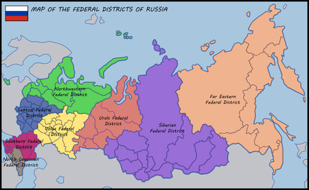 districts: Map of the Federal Districts of Russia