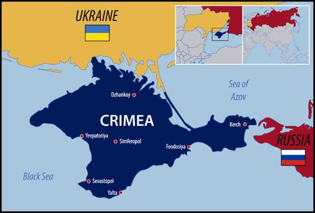 Locatie van de Krim Stock Illustratie
