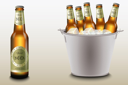 beer bucket: Bucket of Beer Illustration