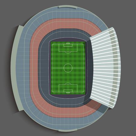 바르셀로나 축구 경기장 일러스트