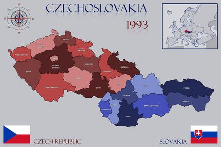 czechoslovakia: Map of Czechoslovakia