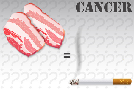 smoldering cigarette: Probability of Cancer, Meat and Tobacco