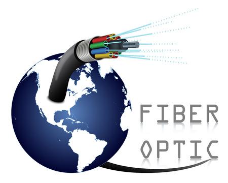 Fiber Optic 일러스트