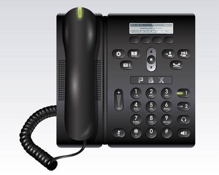 블랙 PBX 전화