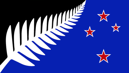 silver fern: New Flag of New Zealand