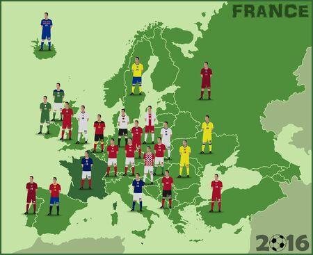 european: European Football Illustration