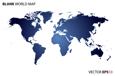 europa: Mapa del mundo en blanco