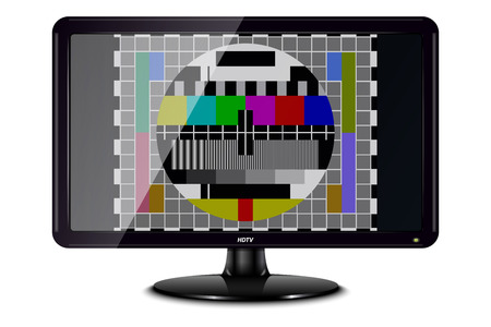 graphic display cards: Television with Test Card