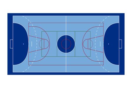 terrain de handball: Cour de sport Illustration