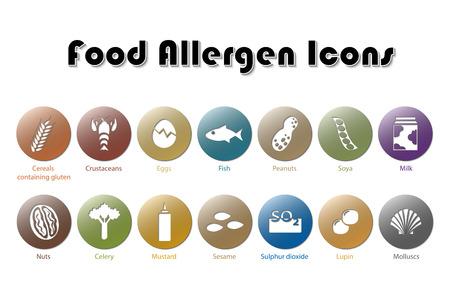 Lebensmittel allergen Icons