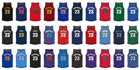 Shirts génériques d'American Basketball Villes